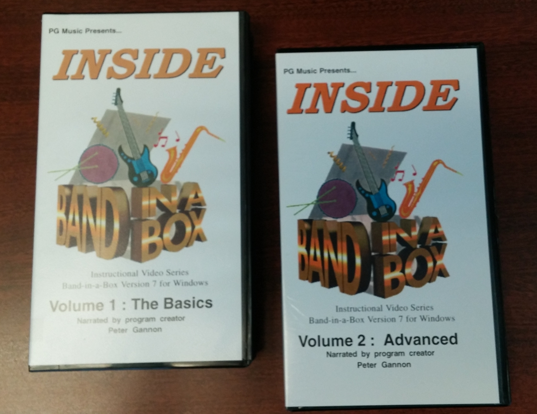 Band-in-a-Box Video Tutorial VHS - #TBT - PG Music Forums