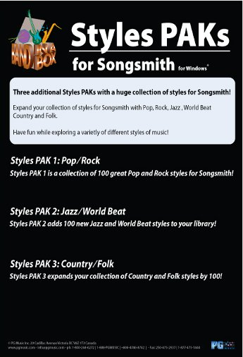 SongSmith StylePAKs