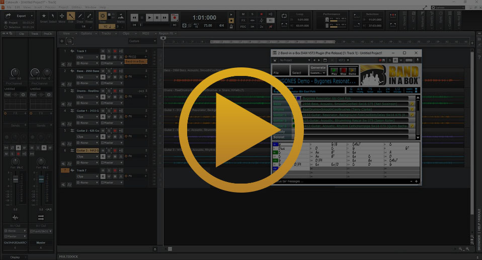 PG Music - Using The Band-in-a-Box® Plugin with Cakewalk
