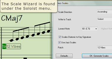 Scale Wizard is found under the Soloist menu.