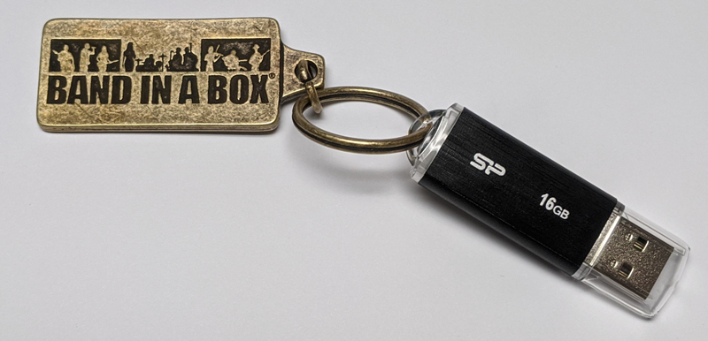 Band-in-a-Box keychain