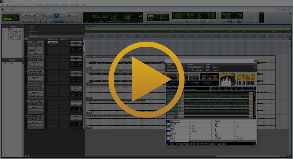 Band-in-a-Box Plugin in Pro Tools