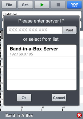 Connecting to Band-in-a-Box Server