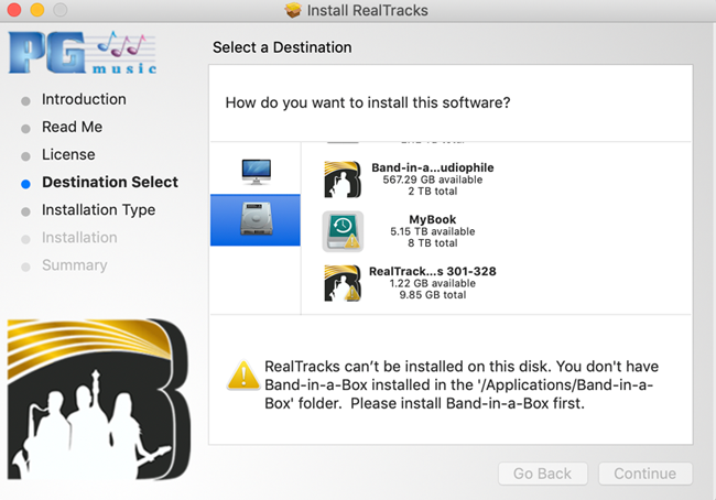 RealTracks cannot be installed