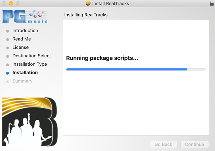 Run installer package