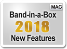 Band-in-a-Box<sup>&reg;</sup> 2018 New Features