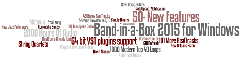 Band-in-a-Box 2015 New Features