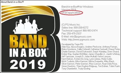 PG Music - Online Manuals - Band-in-a-Box 2019 for Windows User's Guide